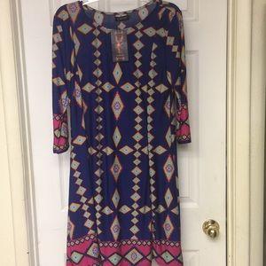 Reborn Multicolor Print Shift Dress